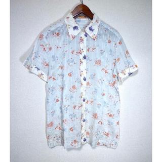 リプレイ(Replay)の送料込 REPLAY リプレイ 半袖シャツ 花柄 刺繍(シャツ)