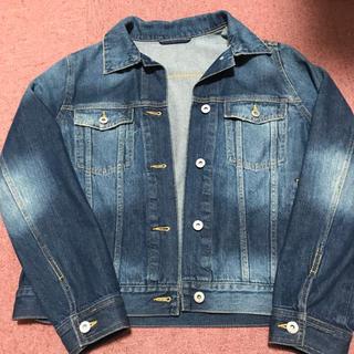 ジーユー(GU)のGU デニムジャケット ブルー ネイビー(Gジャン/デニムジャケット)