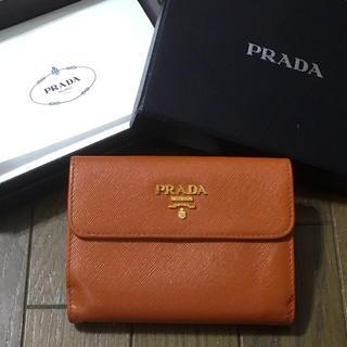 プラダ(PRADA)の美品 プラダ サフィアーノ コンパクト 財布(財布)