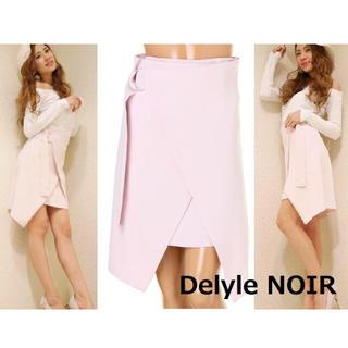 デイライルノアール(Delyle NOIR)の未使用 デイライル ノアール ラップニーレングス スカート 2746 ピンク系(ひざ丈スカート)