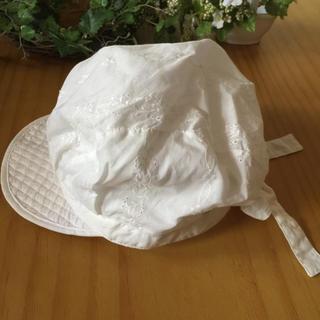 コンビミニ(Combi mini)の✨コンビ♡eta♡リボン白レース模様キャスケット帽子♡52✨(帽子)