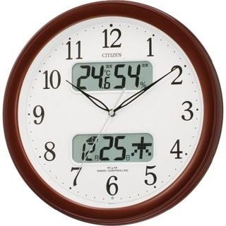 シチズン(CITIZEN)のCITIZEN (シチズン) 電波 掛け時計 ネムリーナカレンダー M01 ブラ(掛時計/柱時計)