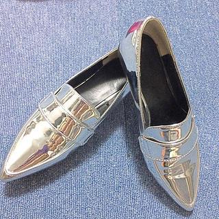 ジーユー(GU)のGU フラットフォームシューズ S (ローファー/革靴)