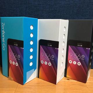 エイスース(ASUS)の3台セット 新品 未開封 ASUS ZenFone Go SIMフリー 本体(スマートフォン本体)