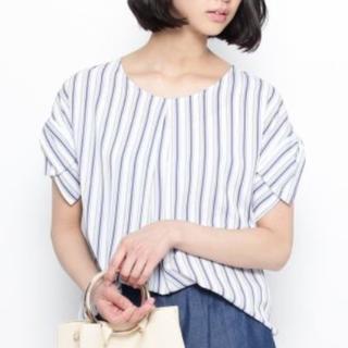 スープ(SOUP)の☆SOUP☆リボン袖ブラウス ブルー(シャツ/ブラウス(半袖/袖なし))