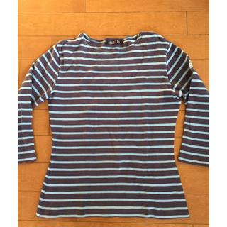 イーストボーイ(EASTBOY)のEAST BOY 7分袖ボーダーTシャツ  サイズM(Tシャツ(長袖/七分))