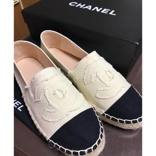 シャネル(CHANEL)の未使用シャネル靴 エスパードリーユ キャンバス サイズ38(スニーカー)