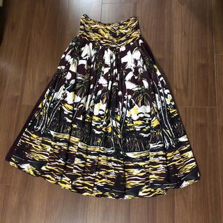 プラダ(PRADA)のプラダ 正規 ハイウエストスカート バナナ ハイビスカス コレクション セール中(ひざ丈スカート)