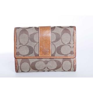 コーチ(COACH)の本物 コーチ 二つ折り財布 正規品(財布)