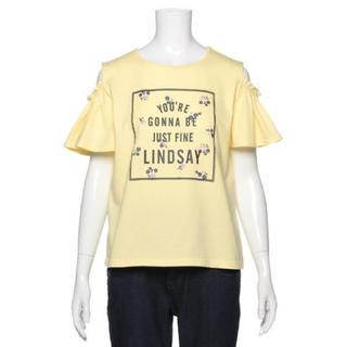 リンジィ(Lindsay)のリンジィ新品新作タグ付き肩開き半袖Tシャツ160cm(Tシャツ/カットソー)