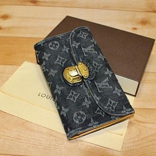 ルイヴィトン(LOUIS VUITTON)の【なかなか綺麗】LOUIS VUITTON デニム 長財布    (財布)