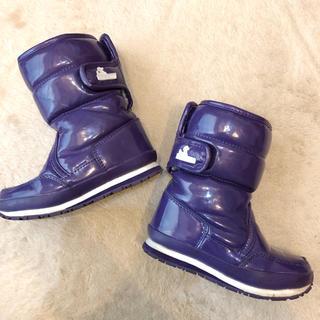 30▪️定価1万☆ラバーダック 子供用ダウンブーツ◾︎ 紫18.519cm(ブーツ)