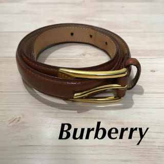 バーバリー(BURBERRY)の美品★Burberry★レザーベルト★細ベルト(ベルト)