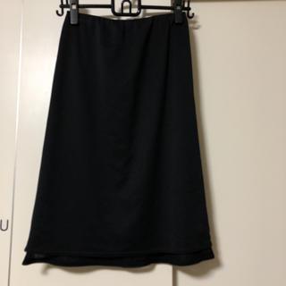 ズッカ(ZUCCa)のズッカ ZUCCA 裾メッシュ 黒 タイトスカート Mサイズ ポリエステル(ひざ丈スカート)