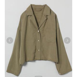 ジーナシス(JEANASIS)のミニタリーショートシャツ(シャツ/ブラウス(長袖/七分))