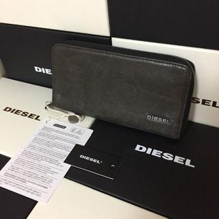 ディーゼル(DIESEL)のDIESEL ディーゼル メンズ ラウンドジップ 長財布 カーキ(長財布)