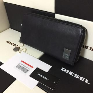 ディーゼル(DIESEL)のDIESEL ディーゼル メンズ ラウンドジップ 長財布 黒(長財布)