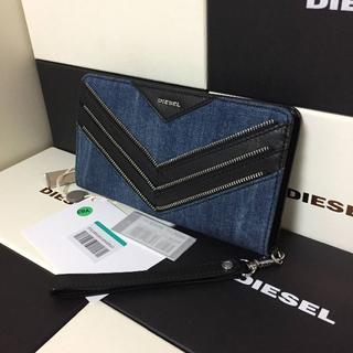 ディーゼル(DIESEL)のDIESEL ディーゼル 長財布 メンズ デニム レザー(長財布)