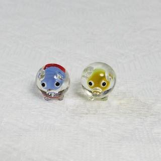 ガラス細工♡ブタさん2匹セット(ガラス)