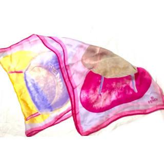 フェンディ(FENDI)の新品 シルク100% 大判 長方形 ストール スカーフ(ネックウォーマー)