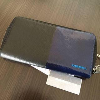 ディーゼル(DIESEL)のDIESEL ディーゼル 長財布 メンズ ブラック ブルー シンプル(長財布)