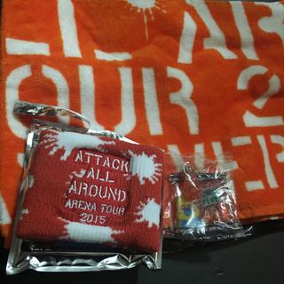 トリプルエー(AAA)のAAA  西島隆弘 タオル、リストバンド(橙)(アイドルグッズ)