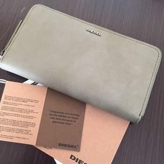 ディーゼル(DIESEL)のDIESEL ディーゼル 長財布 メンズ レディース グリーン 緑 シンプル(財布)