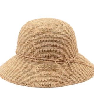 ムジルシリョウヒン(MUJI (無印良品))のサイズ調節できるラフィアたためるキャペリン(麦わら帽子/ストローハット)