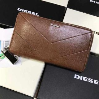 ディーゼル(DIESEL)のDIESEL ディーゼル 長財布 メンズ レディース ブラウン シンプル(長財布)