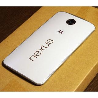 nexus6 32GB ホワイト XT1100 SIMフリー 判定○(スマートフォン本体)