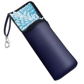 Wsky 折りたたみ傘 カバー 2面超吸水 ブルー(その他)