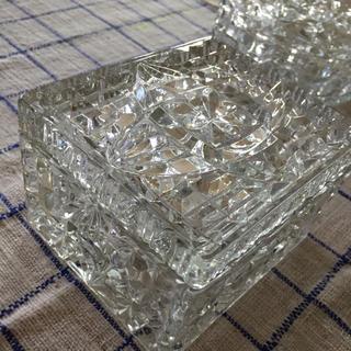 ビンテージディプレッショングラス  アンカーホッキング  小物入れ(ガラス)