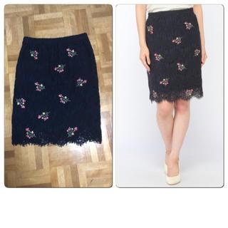 セシルマクビー(CECIL McBEE)のセシルマクビー(CECIL McBEE) 刺繍レーススカート  (ひざ丈スカート)