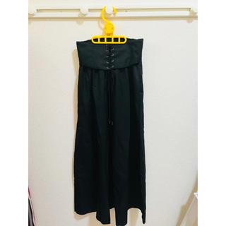 ジーナシス(JEANASIS)の美品♡JEANASIS☆ハイウエストロングスカート ブラック(ロングスカート)
