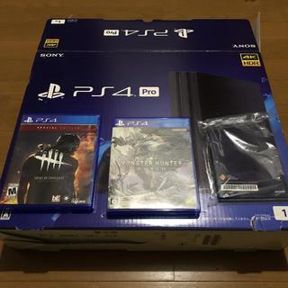 プレイステーション4(PlayStation4)のPS4 Pro CUH-7100B 付属品完備 ソフト2本付き(家庭用ゲーム本体)