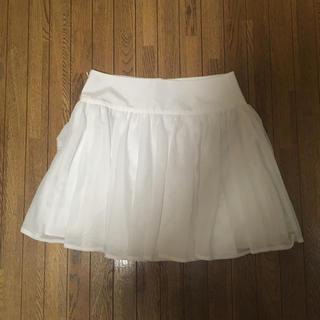 ジルスチュアート(JILLSTUART)のJILL STUART♡メッシュホワイトミニスカート(ミニスカート)