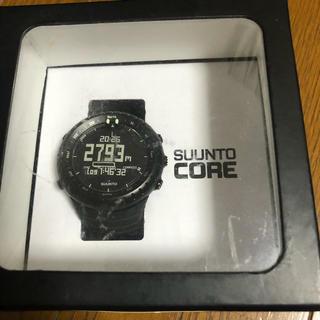 スント(SUUNTO)のsuunto スント コア ブラック アウトドア (腕時計(デジタル))
