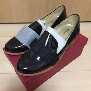 オリエンタルトラフィック(ORiental TRaffic)の[新品]オリエンタルトラフィック ローファー 36 リボン 黒 23cm(ローファー/革靴)