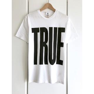 トップマン(TOPMAN)の【希少】トップマン/TOPMAN『TRUE』プリントTシャツ/ホワイト/S/美品(Tシャツ/カットソー(半袖/袖なし))