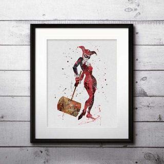 ディズニー(Disney)のハーレークイン(スーサイドスクワッド)アートポスター【額縁つき・送料無料!】(ポスター)