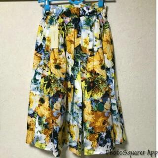 しまむら - しまむら ボタニカル柄 スカート