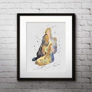 ディズニー(Disney)のポカホンタス&ジョンスミス・アートポスター【額縁つき・送料無料!】(ポスター)