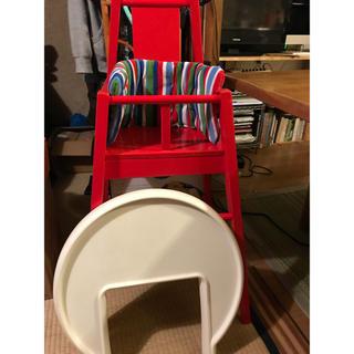 イケア(IKEA)のIKEA ハイチェア テーブル付 木製(その他)