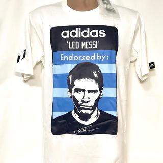 アディダス(adidas)の新品 白 紙タグ付き adidas×メッシ コラボ 限定Tシャツ(Tシャツ/カットソー(半袖/袖なし))