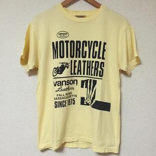 バンソン(VANSON)のVANSON バンソン ブランドロゴ バイク スカル Tシャツ イエロー 黄 M(Tシャツ/カットソー(半袖/袖なし))
