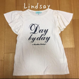 リンジィ(Lindsay)のLindsayフリル袖Tシャツ♡(Tシャツ/カットソー)