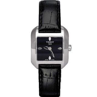 ティソ(TISSOT)の【新品 正規品】ティソ レディース スクエア ウォッチ 腕時計 ブラック(腕時計)