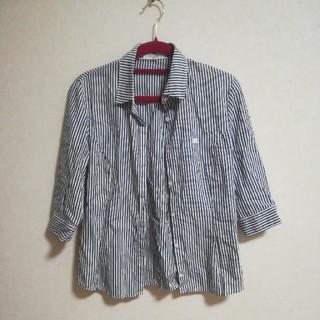 クレージュ(Courreges)のストライプシャツ 七部袖 オフィスに(シャツ/ブラウス(長袖/七分))