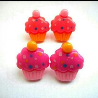 カップケーキのピアス・樹脂ピアス・イヤリング♪全2色(ピアス)
