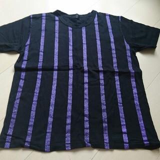 シックスシックスシックス(666)の666 ラメパープル ブラック Tシャツ(Tシャツ/カットソー(半袖/袖なし))